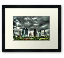 Houston Skyline Framed Print