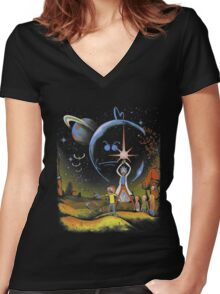 Rick and Morty T-shirt - funny shirt 2  Women's Fitted V-Neck T-Shirt