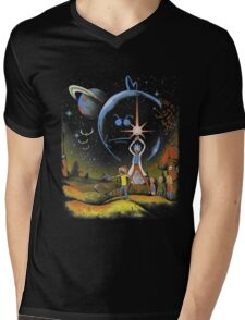 Rick and Morty T-shirt - funny shirt 2  Mens V-Neck T-Shirt