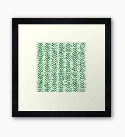 Leaf seamless  transparent pattern. Nature  fresh  background. Framed Print