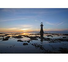 Sunset at the Lighthouse Photographic Print