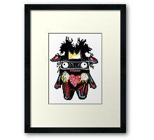 Basquiat Monster Framed Print