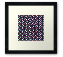 Beautiful  little flower doodle pattern.  Seamless cute background. Framed Print