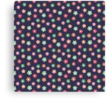 Beautiful  little flower doodle pattern.  Seamless cute background. Canvas Print