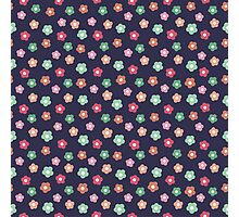 Beautiful  little flower doodle pattern.  Seamless cute background. Photographic Print