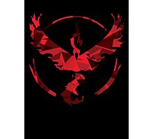 Team Valor [Shattered Moltres Logo] Photographic Print