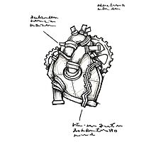 Iron Heart Concept Sketch Photographic Print