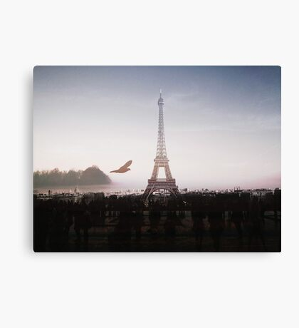 Eiffel Tower in the mountains Canvas Print