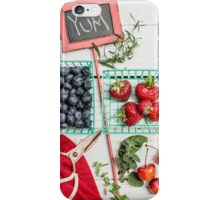 Blueberries, Cherries, Basil Still Life iPhone Case/Skin