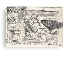 SPY GAME(STUDY)(INK PEN)(2) (C2013) Canvas Print