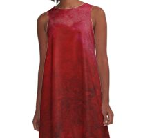 Flowering YON Red A-Line Dress