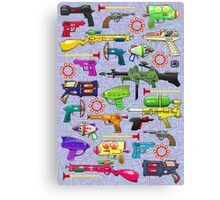 Vintage Toy Guns Canvas Print