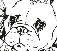 French Bulldog Flower Garland Sticker