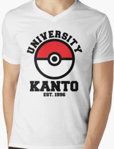 Poke University Mens V-Neck T-Shirt