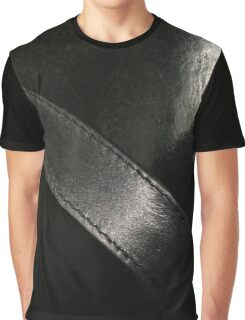 Pitch Black. Vintage Italian Leather Graphic T-Shirt