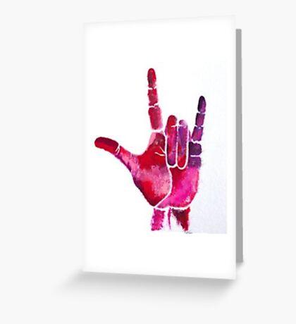 ASL I Love You Hand Greeting Card