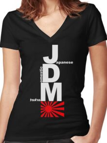 JDM Rising Sun (1) Women's Fitted V-Neck T-Shirt