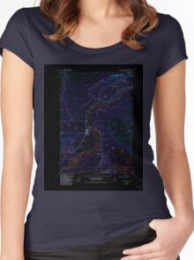 USGS TOPO Map Alaska AK Anchorage C-6 354003 1951 63360 Inverted Women's Fitted Scoop T-Shirt