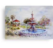 Fountain at Victoria Park, Forbes Canvas Print