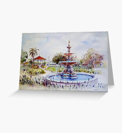 Fountain at Victoria Park, Forbes Greeting Card