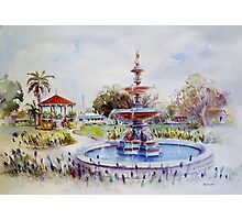 Fountain at Victoria Park, Forbes Photographic Print