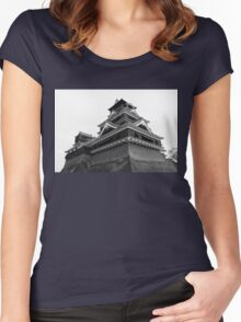 Samurai Castel (Black and White) Women's Fitted Scoop T-Shirt