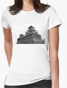Samurai Castel (Black and White) Womens Fitted T-Shirt