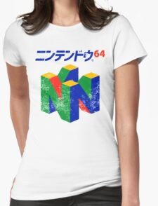 Japanese Nintendo 64 Womens Fitted T-Shirt