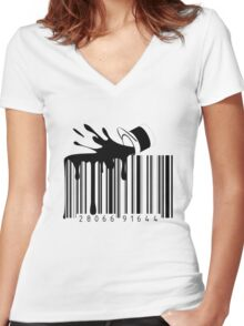 Barcode Women's Fitted V-Neck T-Shirt