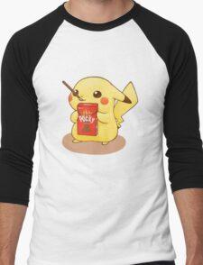 Pikachu Pocky Men's Baseball ¾ T-Shirt