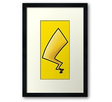 Pikachu Tail Framed Print