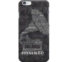 Gramophone on chalkboard iPhone Case/Skin