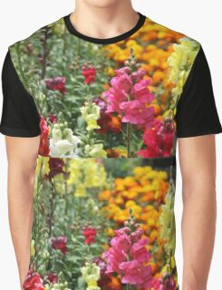 Snapdragons in an English country garden Graphic T-Shirt