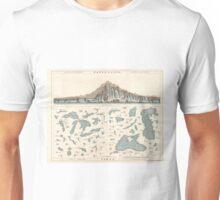 Vintage Lakes of The World Map (1860) Unisex T-Shirt