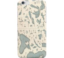 Vintage Lakes of The World Map (1860) iPhone Case/Skin