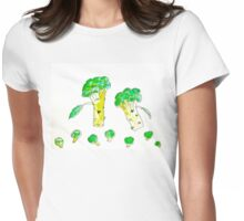 Eat more Broccoli Womens Fitted T-Shirt