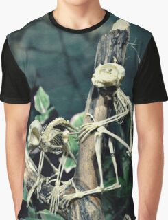 Monkey Skeletons Graphic T-Shirt