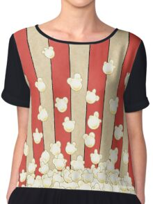 Popcorn Pop Art Women's Chiffon Top