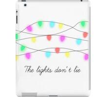 The lights don't lie. iPad Case/Skin