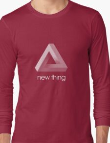 new thing penrose triangle optical illusion impossible Long Sleeve T-Shirt