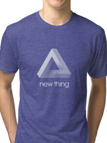 new thing penrose triangle optical illusion impossible Tri-blend T-Shirt