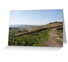 Moorland Path - Stanage Edge Greeting Card