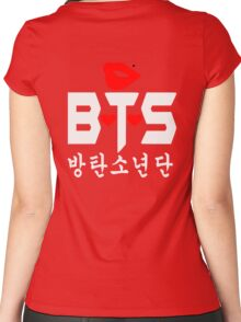 ♥♫Love BTS-Bangtan Boys K-Pop Clothes & Phone/iPad/Laptop/MackBook Cases/Skins & Bags & Home Decor & Stationary♪♥ Women's Fitted Scoop T-Shirt