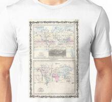 Vintage World Climate & Vegetation Map (1861) Unisex T-Shirt