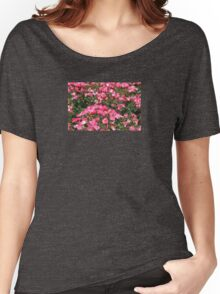 Pink Flowers  Women's Relaxed Fit T-Shirt