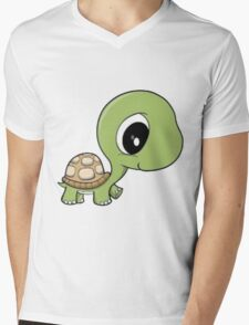 Cute Turtle Mens V-Neck T-Shirt