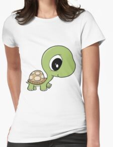 Cute Turtle Womens Fitted T-Shirt