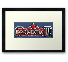SUPER CASTLEVANIA LOGO Framed Print