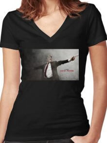 Agent Donald Women's Fitted V-Neck T-Shirt