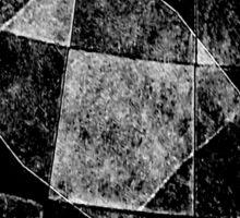 Dark Geometric Grunge Pattern Print Sticker